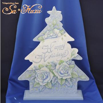 161011白バラのクリスマスツリー-1
