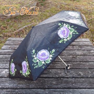 170529日傘折りたたみ紫薔薇