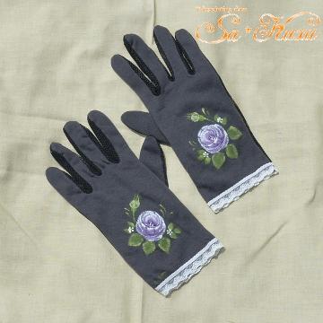 170626紫薔薇の日よけ手袋-1
