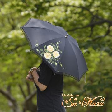 170627日傘黄薔薇-1