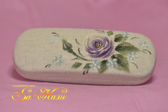 180316紫薔薇メガネケース-2