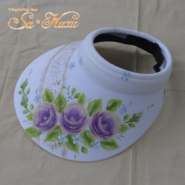 180324紫薔薇サンバイザー-1