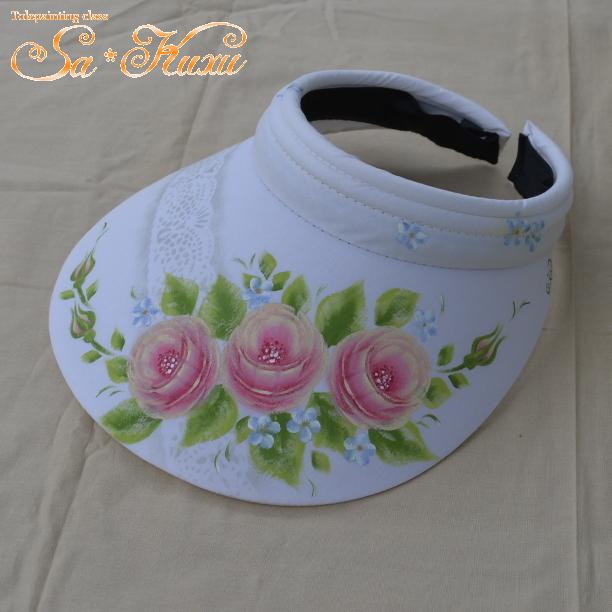 180331ピンク薔薇サンバイザー-1