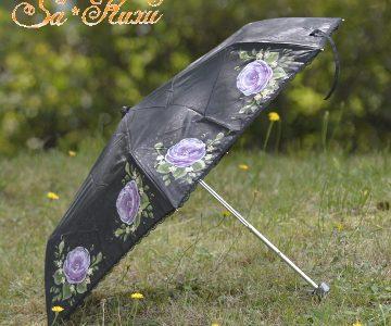 折りたたみ日傘(黒)minneに出品しています