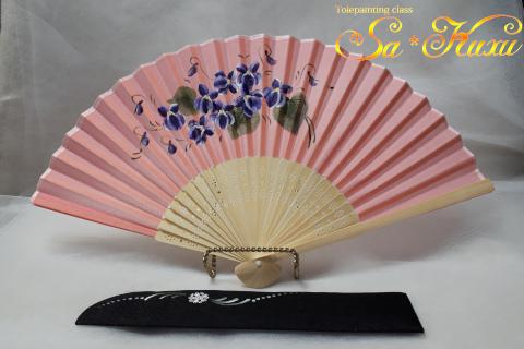 180711すみれ扇子ピンク-1