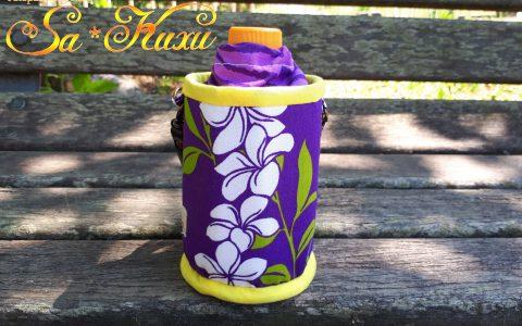 350ml用プルメリアのペットボトルケース(紫)minneに出品しました