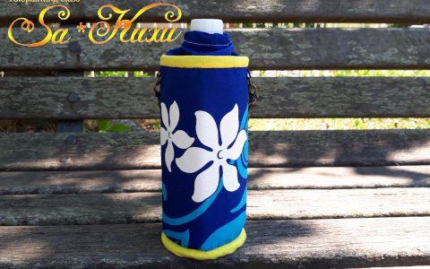 白ティアレのペットボトルケース(紺)minneに出品しました