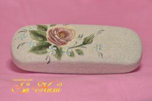 180903ピンク薔薇メガネケース-1