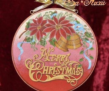 メリークリスマスのプレート(赤)minneに出品しています