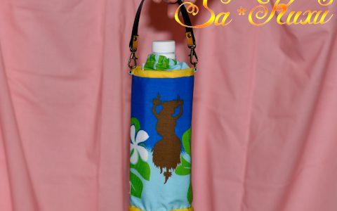フラガールのペットボトルケース(青)minneに出品しました