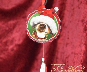 ビーグル(犬)のクリスマス飾りminneに出品しています
