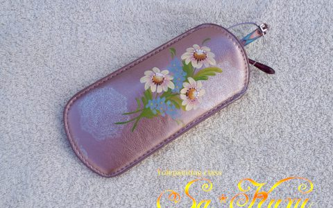 マーガレットのソフトメガネケース(ピンク)minneに出品しました
