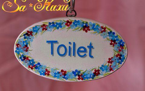 小花のトイレプレートminneに出品しています