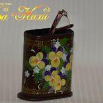 190309ビオラ眼鏡スタンド茶-1