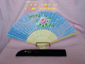 190418ピンク薔薇扇子青レース柄-1