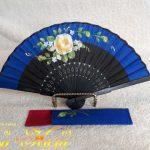 190501黄薔薇ミニ扇子紺-1