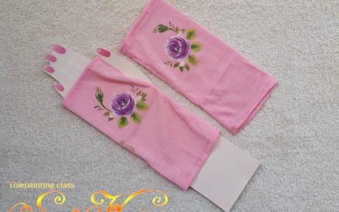紫薔薇の日よけアームカバー(ピンク)minneに出品しました