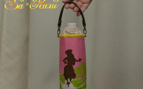 フラガールのペットボトルケース(ピンク)minneに出品しました