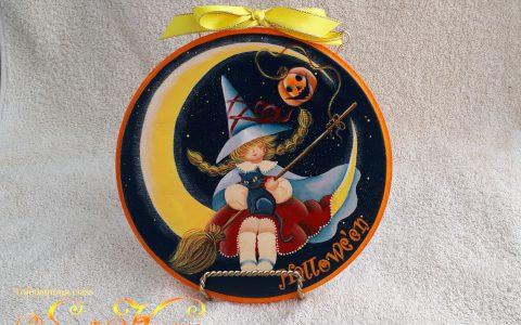 魔女っ子と黒猫のハロウィン・三日月minneに出品しています