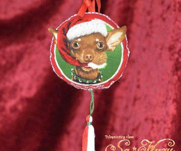 チワワ(犬)のクリスマス飾りminneに出品しています