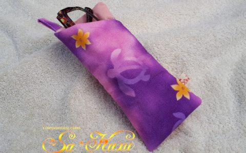 ホヌの布メガネケース(紫)minneに出品しました