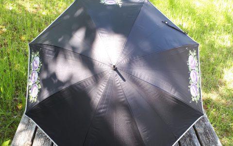 紫薔薇の日傘(黒)minneに出品しています