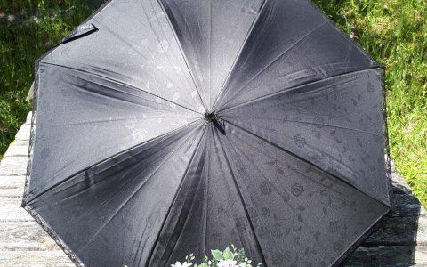 マーガレットの日傘(黒)晴雨兼用minneに出品しました