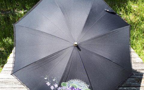 すみれの日傘(黒)晴雨兼用minneに出品しています