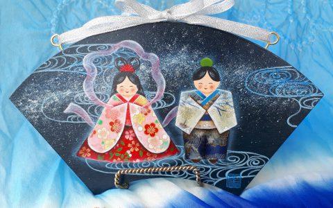 織姫と彦星の七夕飾りminneに出品しました