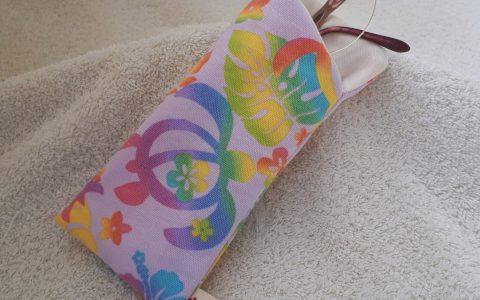 ホヌの布メガネケース(薄紫)minneに出品しました