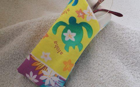ホヌの布メガネケース(黄)minneに出品しました