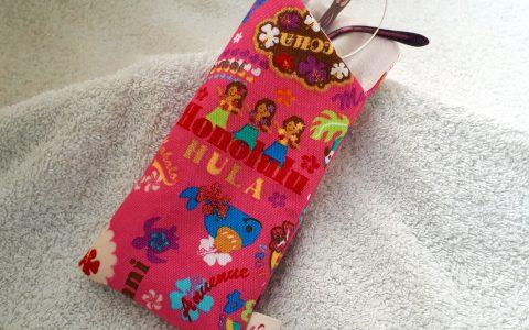 フラガールの布メガネケース(ピンク)minneに出品しました