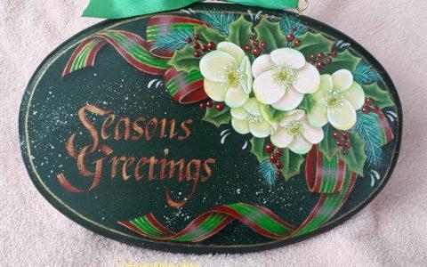 クリスマスローズのプレートminneに出品しました