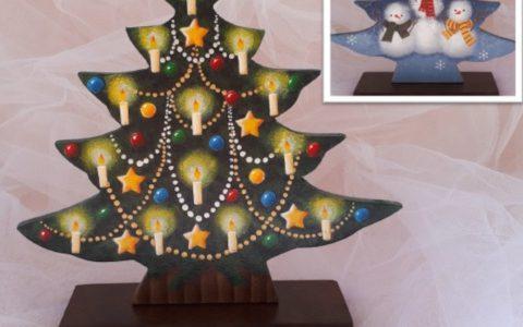 キャンドルのクリスマスツリーminneに出品しました